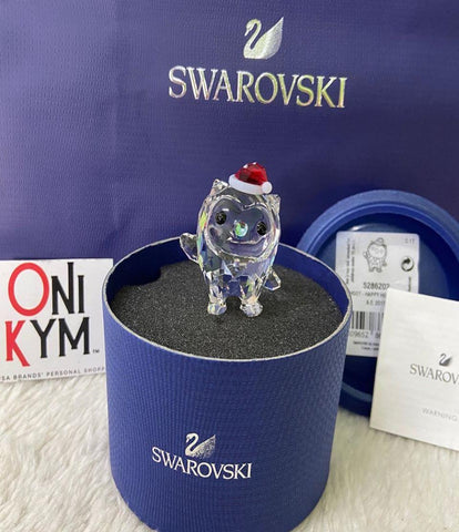 SWAROVSKI CRYSTAL OWL CHRISTMAS FIGURINE HOOT- HAPPY HOLIDAYS 2017
