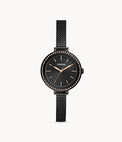 FOSSIL Classic Minute Black Stainless Steel Watch BQ3459