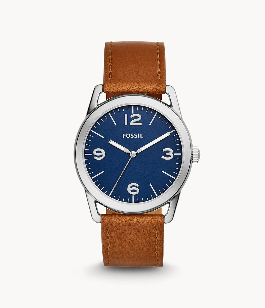 Fossil Ledger Three-Hand Leather BQ2304
