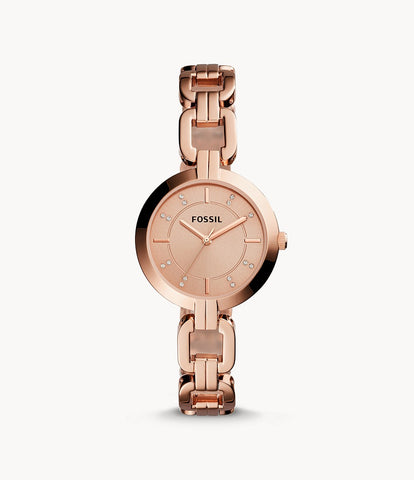 Fossil Kerrigan Rosegold Stainless Steel Watch BQ3206