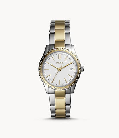 Fossil Adalyn Silver/Gold Stainless Steel Watch BQ3376