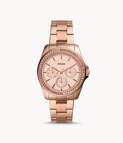 Fossil Janice Rose Gold-Tone Stainless Steel BQ3611