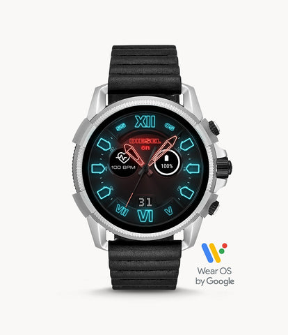 Diesel Touchscreen Smartwatch Full Guard 2.5 Black Leather DZT2008
