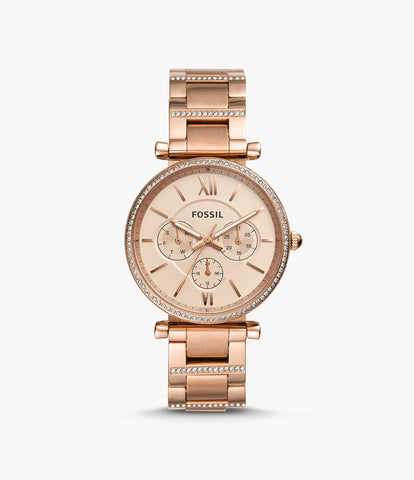 Fossil Carlie Multifunction Rose Gold ES4542