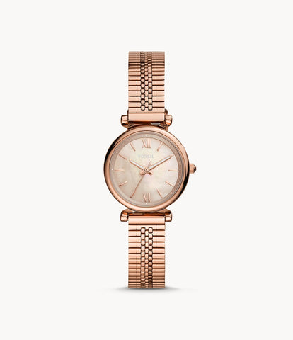 Fossil Rose-Gold-Tone Stainless-Steel Watch ES4697