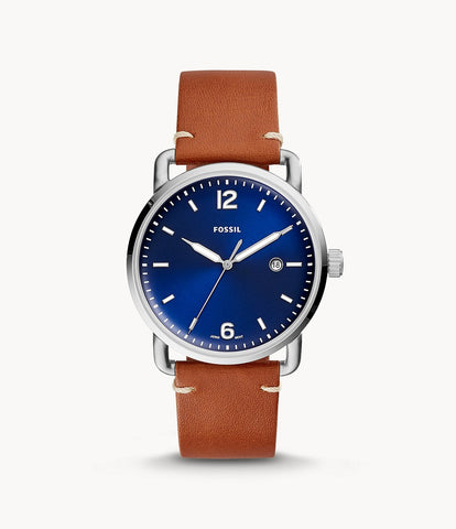 Fossil Commuter Brown Leather Watch FS5325