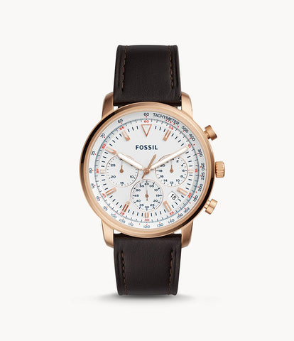Fossil Chronograph Brown Leather Watch FS5415