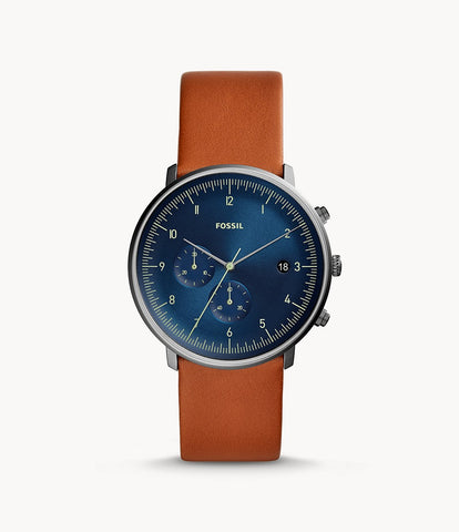 Fossil Chaser Chronograph Brown Leather Watch FS5486