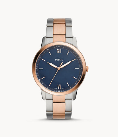 Fossil Minimalist Silver/Rosegold Stainless Steel FS5498