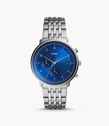Fossil Chaser Silver Stainless Steel Watch FS5542