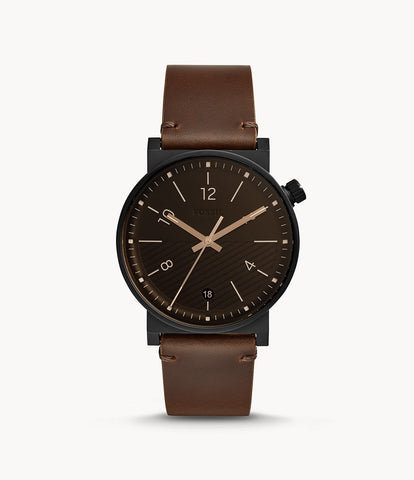 Fossil Barstow Brown Leather Watch FS5552