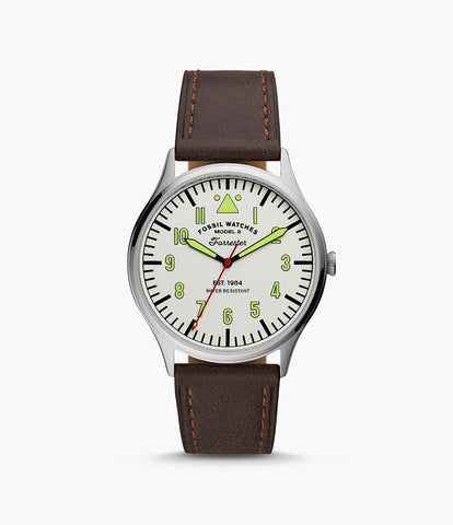 Fossil Forrester Brown Leather Watch FS5610