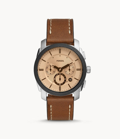 Fossil Machine Chronograph Brown Leather FS5620