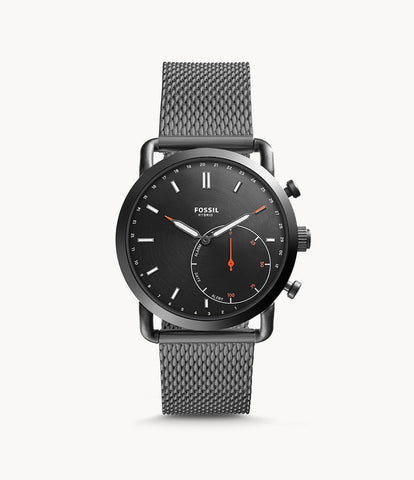 Fossil Hybrid Smartwatch Commuter Smoke Stainless Steel FTW1161