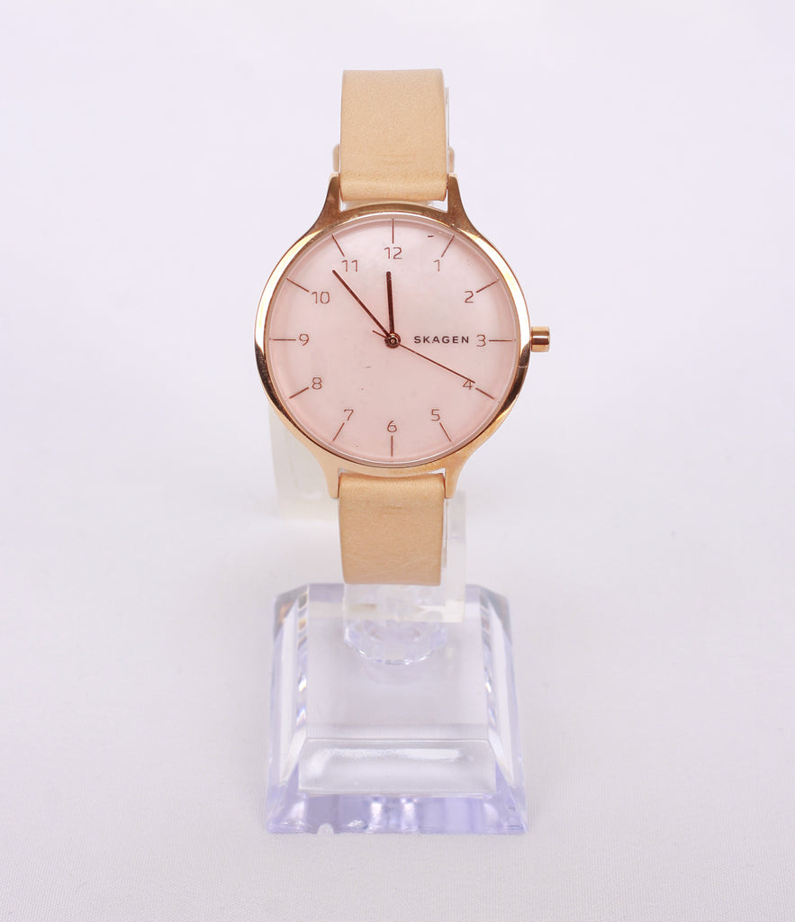 (Clearance) Skagen Anita Mother-of-Pearl Nude Leather SKW2704