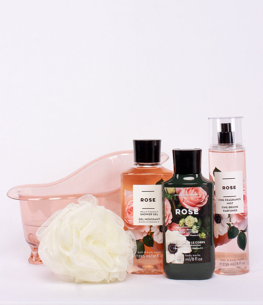 Bath & Body Work Bath Tub Rose Set