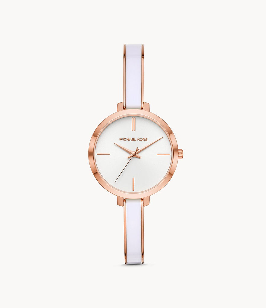 Michael Kors Women's Jaryn Three-Hand Rose Gold-Tone Stainless Steel MK4342