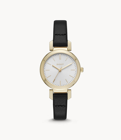 DKNY Women's Ellington Leather Watch NY2595
