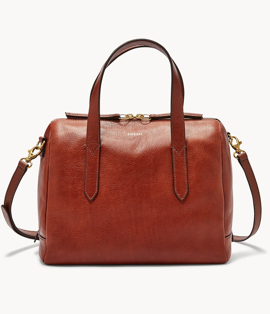Fossil Sydney Satchel in Medium Brown SHB1978210