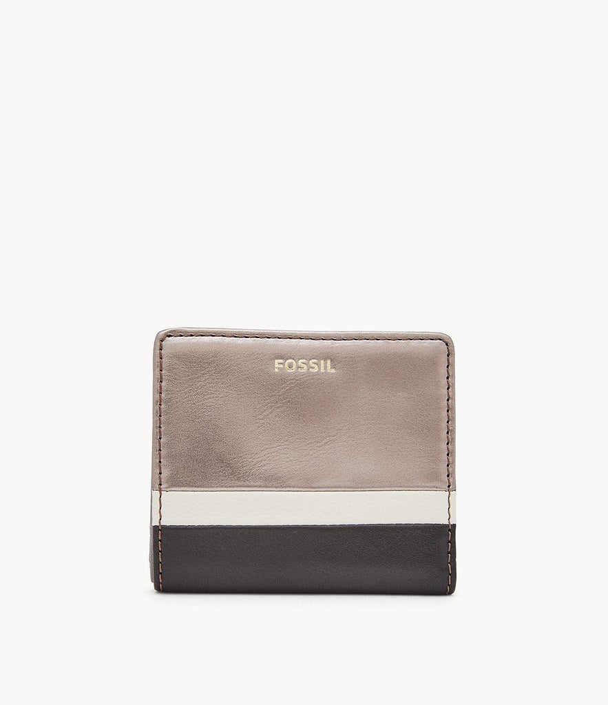 Fossil Madison Bifold in Black W/Gunmetal SWL2275008