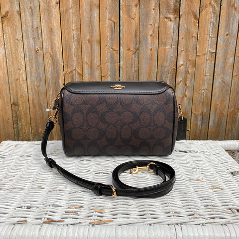 Coach Signature Bennett Crossbody in Brown/Black