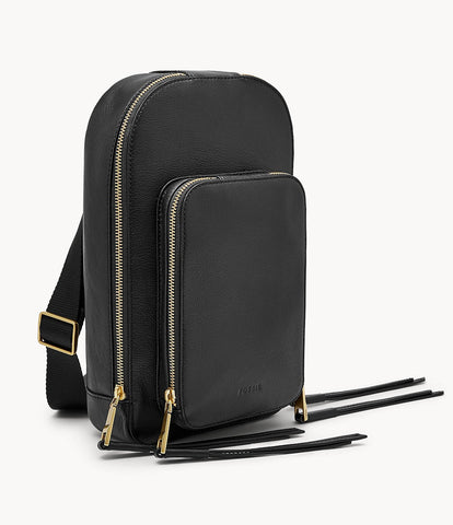 Fossil Dove Sling Pack in Black