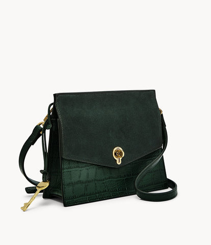 Fossil Stevie Small Crossbody in Spruce