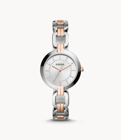 Fossil Two-Tone Stainless Steel Watch BQ3341