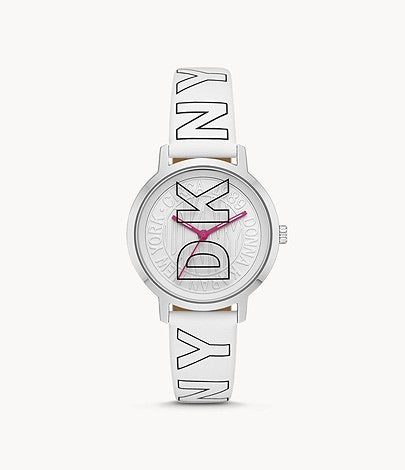 DKNY Women's White Leather Watch NY2819