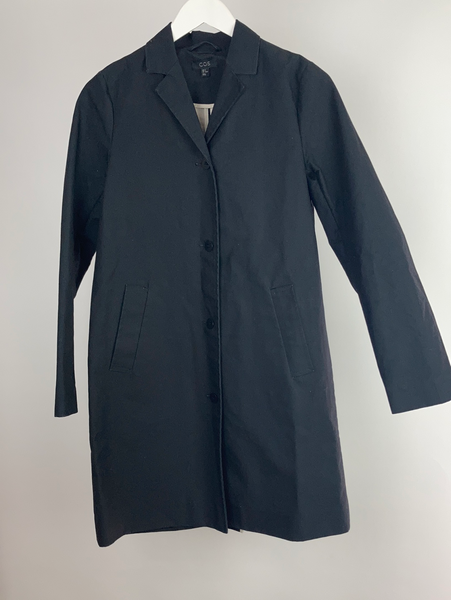 Cos cotton coated waterproof coat size eur 34(uk8)