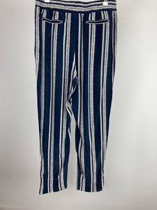 Whistles blue pattern trousers size uk14