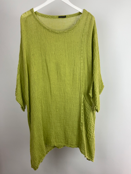 GRIZAS linen tunic size m (uk 16/18)