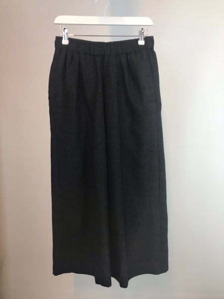 "Black wide leg ""pull on"" trouser"