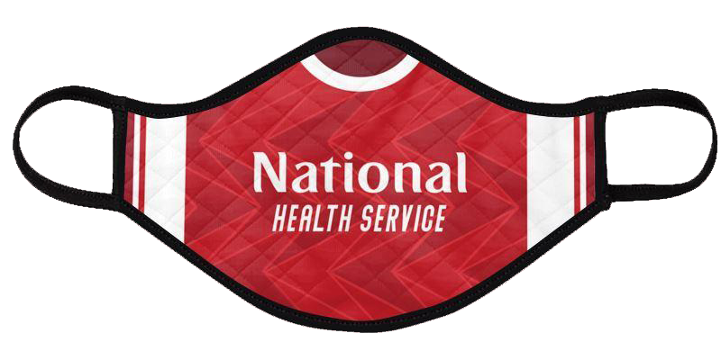arsenal 2020-21 shirt mask