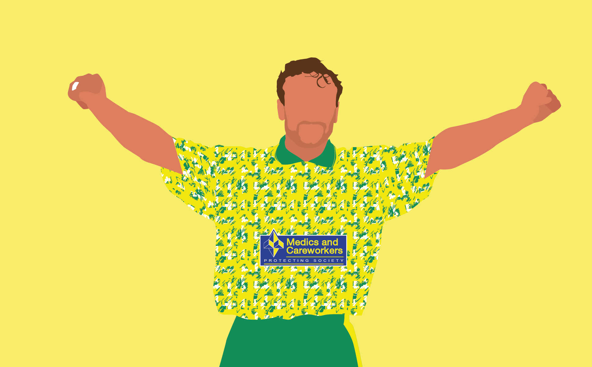 Norwich City player Jeremy Goss in the 1992-93 home shirt, manufactured by Ribero.