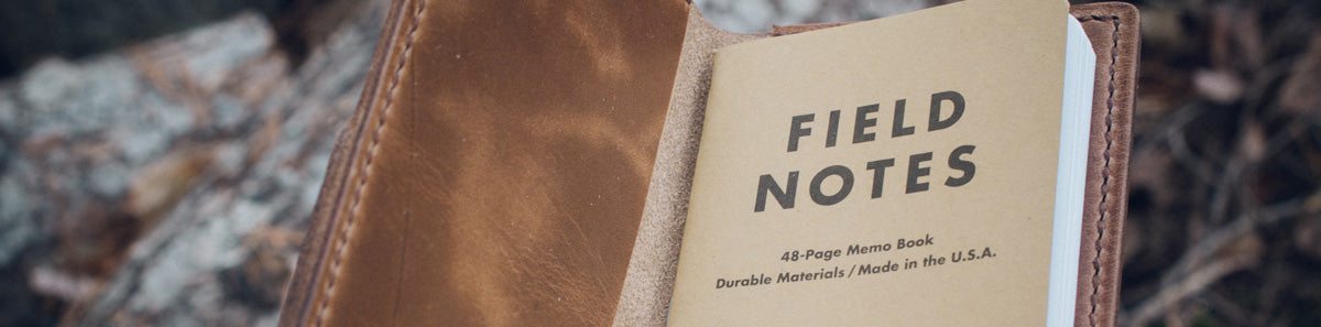 Field Notes Cover with wrap around pocket