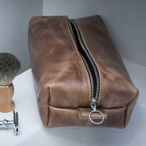 Leather Dopp Kits for Men