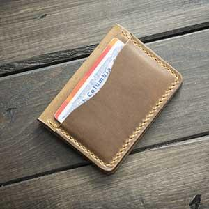 Handmade Leather 5 Card Wallet for Men