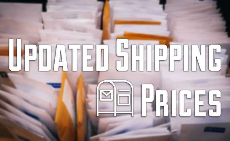 Updated Shipping Prices