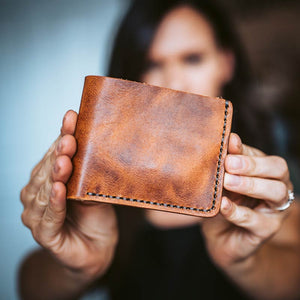 DIY Leather Wallet Kit for Making Leather Short Wallet Purse Handmade