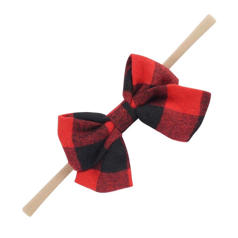 Plaid Nylon Headband 2 pack