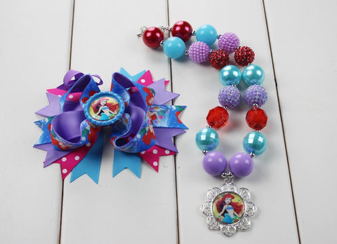 Little Mermaid Chunky Bubble Accessory Set