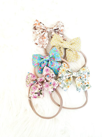 5 pcs Nylon Headband Floral