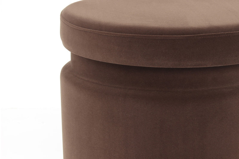 Pouf - Tabouret Zora 225 Lot de 2 Marron / Orange 5Q5CX | Emmarlin.com