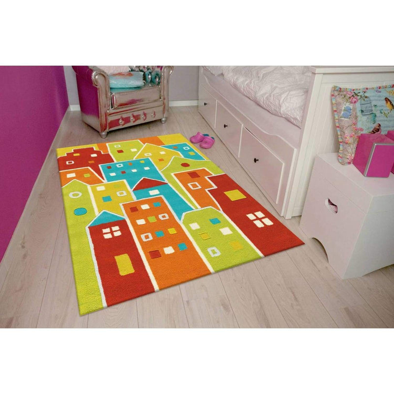 Tapis enfant - Spirit Glowy 3139 Houses | Emmarlin
