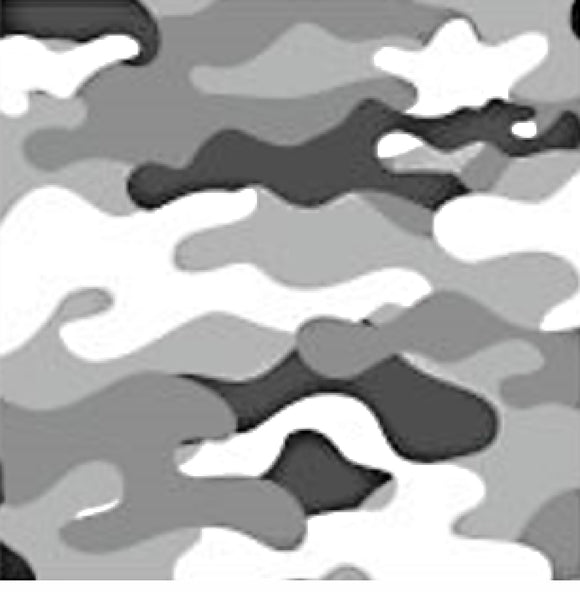 Camo Black and White Cloth Face Mask