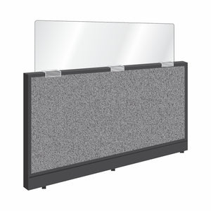 "Cubicle Mounted Sneeze Guards, 1/4"" Thick Clear Acrylic"
