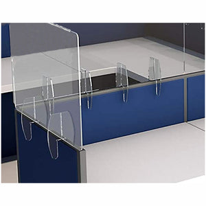 "Tall Cubicle Sneeze Guards, 1/4"" Thick Clear Acrylic"