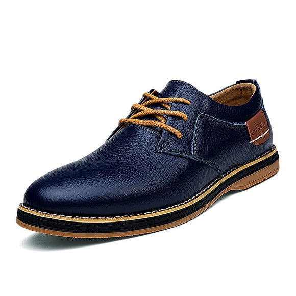 Casual Men Shoes Genuine Leather Adult High Quality Luxury Italian Style Big Size England Business Shoes Casual Comfort Shoes