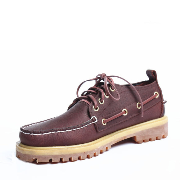 Men Loafers Moccasins Leather Casual Work boots Cow Genuine Leather Men Boat Shoes Classic Shoes Driving Lace Up Casual Shoes
